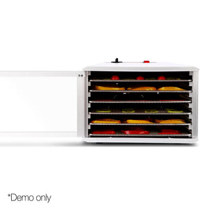 Devanti Stainless Steel Commercial Food Dehydrator with 6 Trays