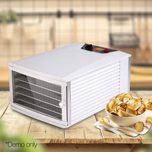 Load image into Gallery viewer, Devanti Stainless Steel Commercial Food Dehydrator with 6 Trays