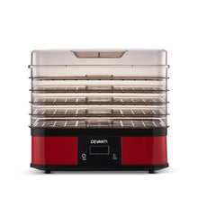 Load image into Gallery viewer, Devanti Food Dehydrator with 5 Trays - Red