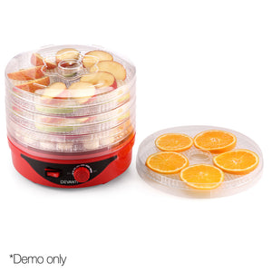 Devanti Food Dehydrator with 7 Trays - Red