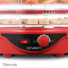 Load image into Gallery viewer, Devanti Food Dehydrator with 7 Trays - Red