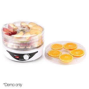 Devanti Food Dehydrator with 5 Trays - White