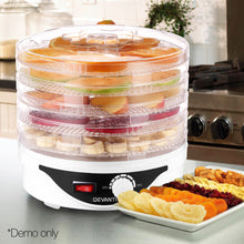 Load image into Gallery viewer, Devanti Food Dehydrator with 5 Trays - White