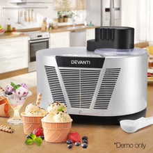 Load image into Gallery viewer, Devanti Self Cooling Ice Cream Maker - Silver