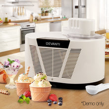 Load image into Gallery viewer, Devanti Ice Cream Maker with Built in Compressor