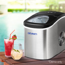 Load image into Gallery viewer, Devanti 2.4L Stainless Steel Portable Ice Cube Maker