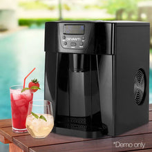 Load image into Gallery viewer, Devanti 2L Portable Ice Cuber Maker & Water Dispenser - Black