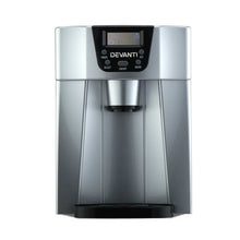 Load image into Gallery viewer, Devanti 2L Portable Ice Cuber Maker & Water Dispenser - Silver