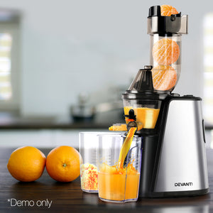 Devanti Cold Press Slow Juicer - Silver