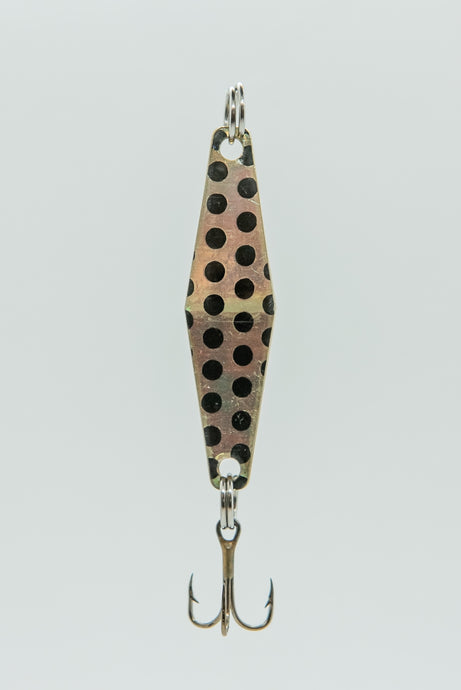 Brass Black Dot - Curly's Fishing Lures
