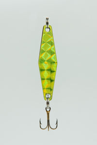 Chartreuse Silver - Curly's Fishing Lures