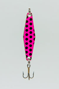 Pink Black Dot - Curly's Fishing Lures