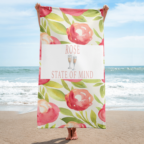 Rosé State Of Mind Beach Towel - Bubbly & Co.