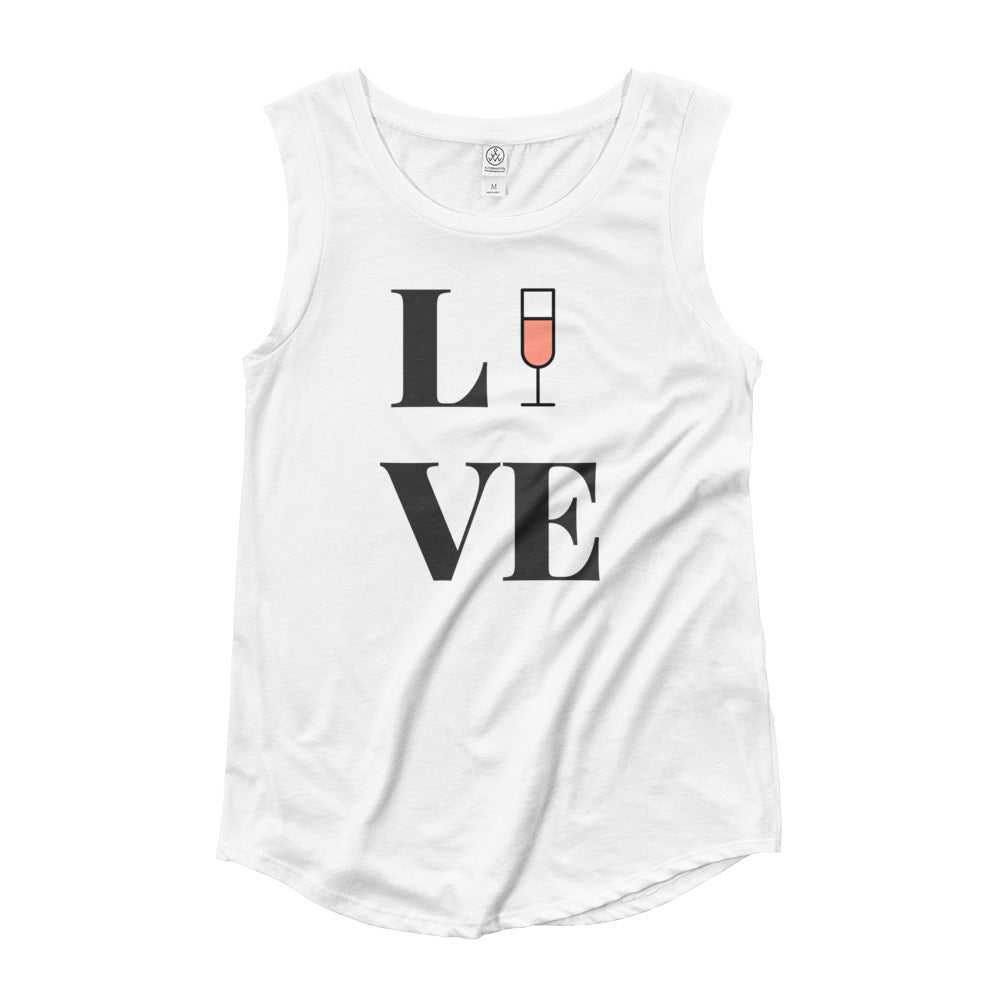 Love Rosé Ladies' Cap Sleeve T-Shirt - Bubbly & Co.