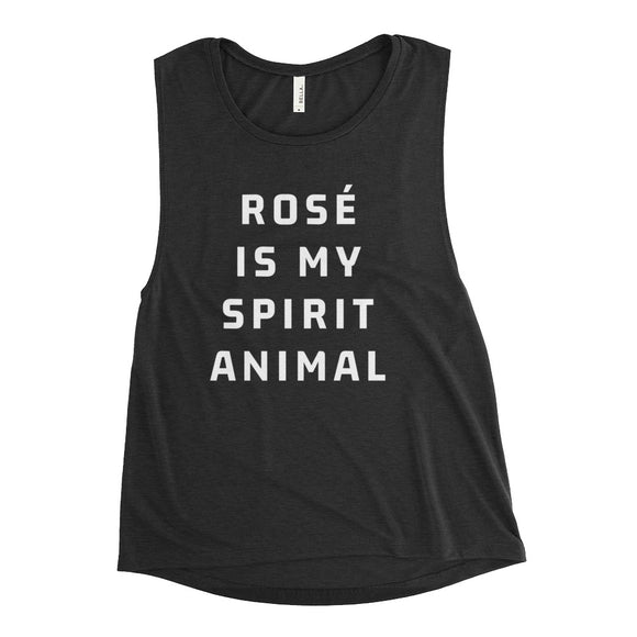 Rosé Is My Spirit Animal Ladies' Muscle Tank - Bubbly & Co.