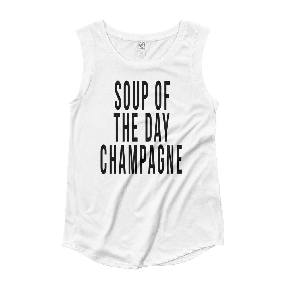 Soup of The Day Ladies' Cap Sleeve T-Shirt - Bubbly & Co.