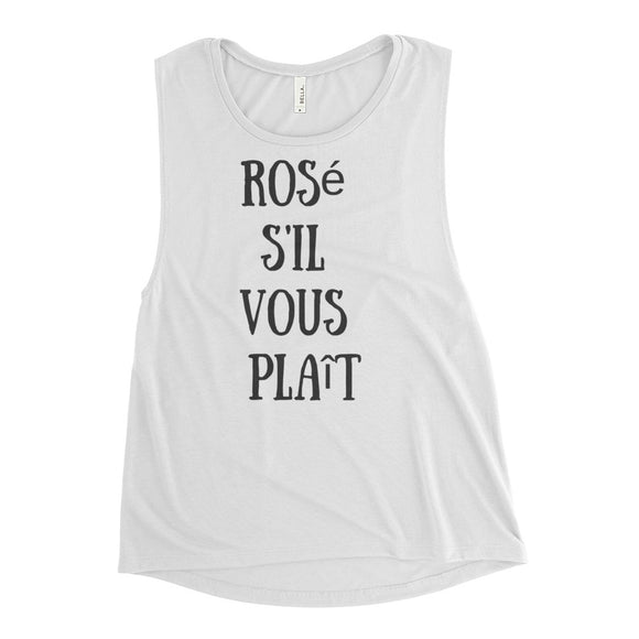 Rosé S'il Vous Plaît Ladies' Muscle Tank - Bubbly & Co.