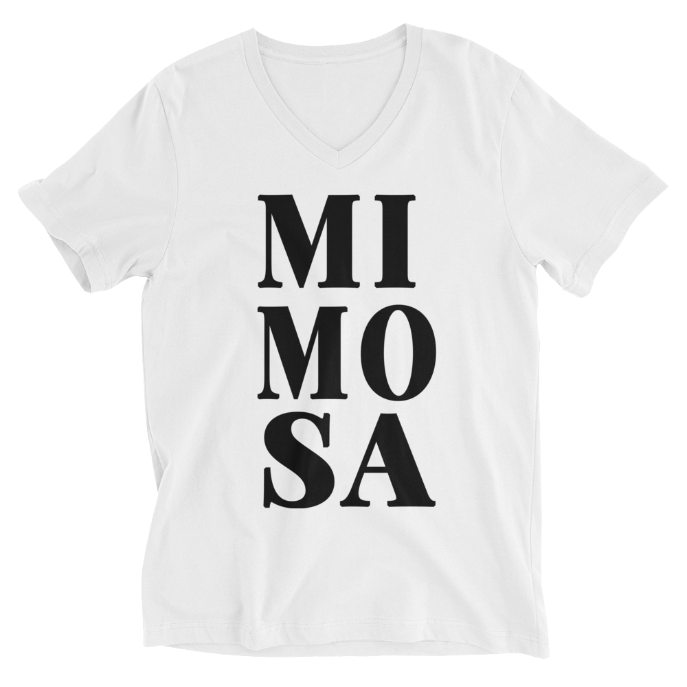 MIMOSA Unisex Short Sleeve V-Neck T-Shirt - Bubbly & Co.