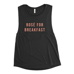 Rosé For Breakfast Ladies' Muscle Tank - Bubbly & Co.