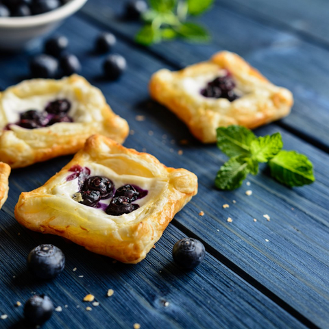 Blue Cheese, Honey & Shallot Fruit Pastries