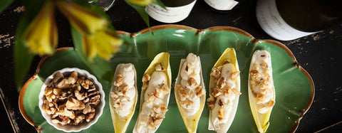 Blue Cheese, Honey & Shallot Spread Endive Appetizer