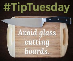 Avoid Glass Cutting Boards