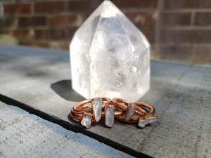 Quartz Crystal Stacking Rings