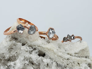 Electroformed Copper Lake County Diamond Rings