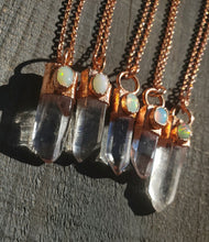 Load image into Gallery viewer, Quartz and Welo Opal Necklaces