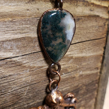 Load image into Gallery viewer, Moss Agate and Octopus Pendant 4