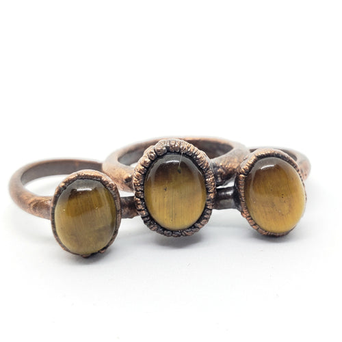 Electroformed Tiger Eye Ring