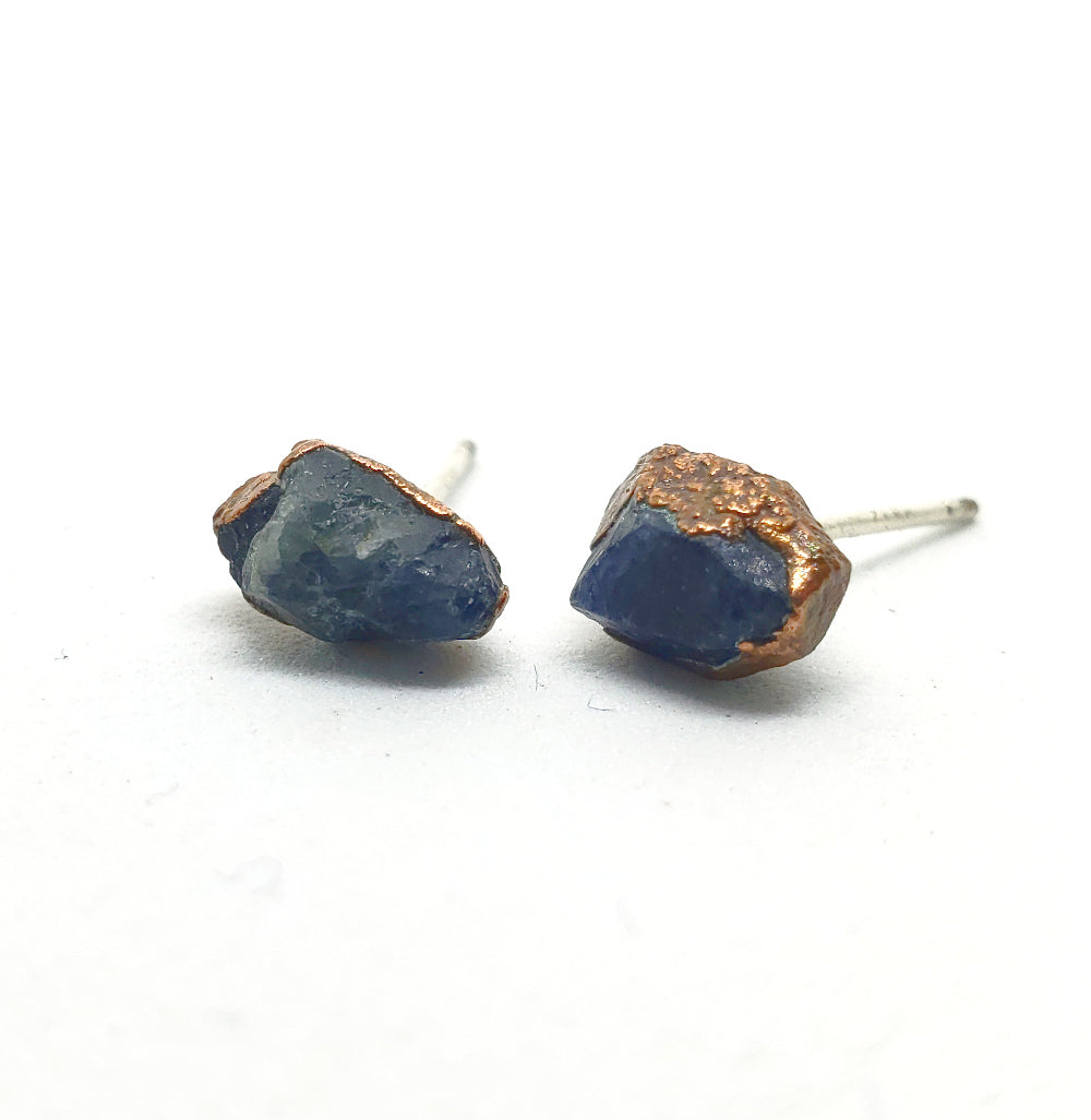 Raw Sapphire Earrings