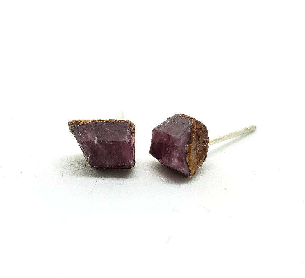 Raw Ruby Earrings