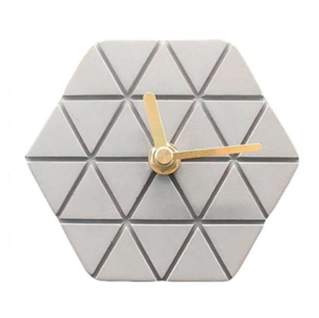 Horloge de table<br>ciment