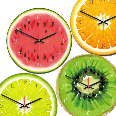 Ensemble d'horloges murales fruit exotique