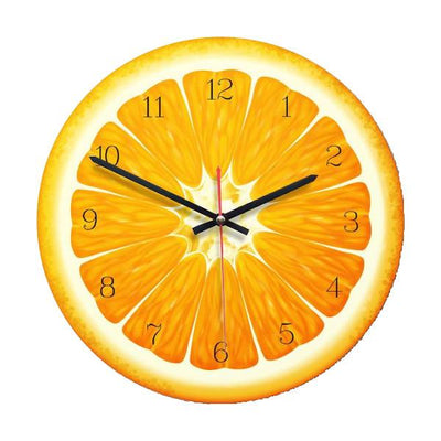 Horloge murale orange fruitée sucre