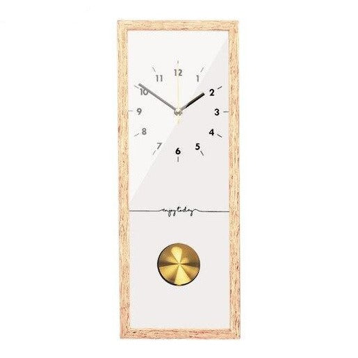 Horloge pendule acrylique design rectangle blanc
