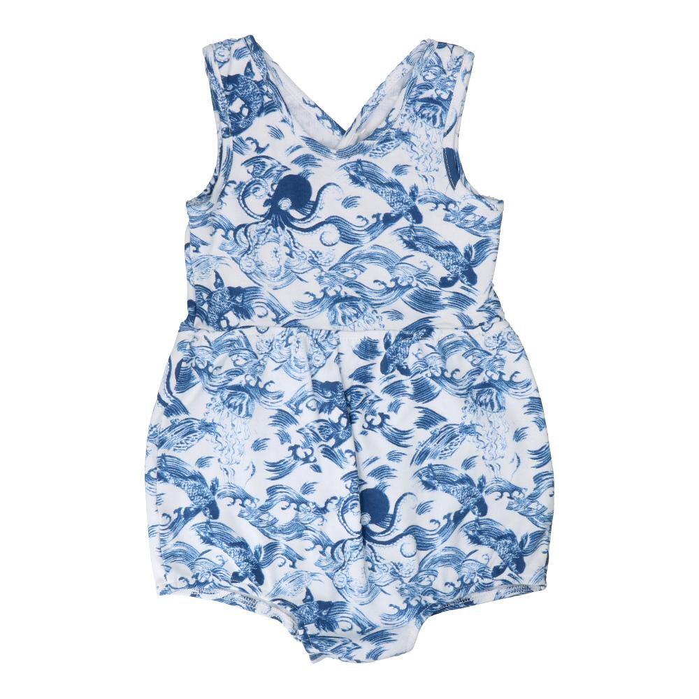 Hunter + Boo Short Romper - Kaiyo Print