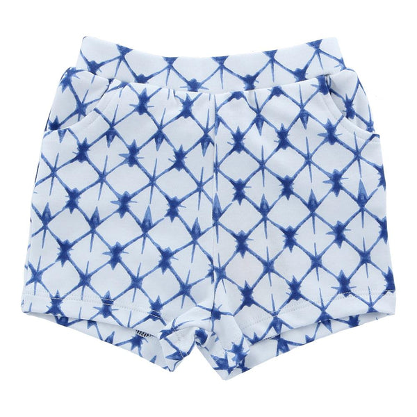 Hunter + Boo Shorts - Shibori Blue