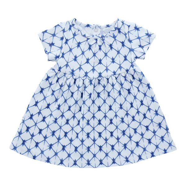 Hunter + Boo T-Shirt Dress - Shibori Blue