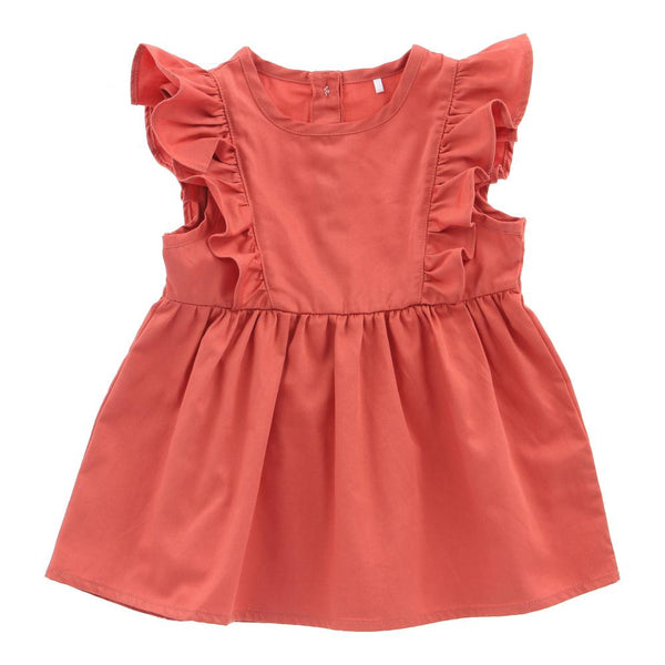 Hunter + Boo Frill Dress - Terracotta