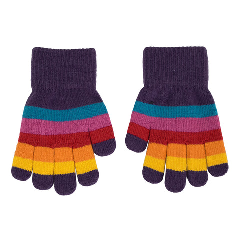 Villervalla Magic Gloves - Valley Stripe 8-12y