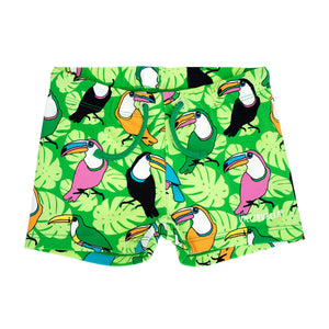 Villervalla Pea Green Toucan Swim Shorts