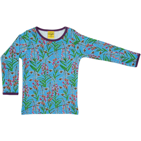 Duns Blue Willowherb Long Sleeve Top - Adults