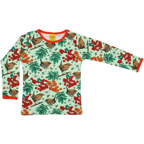 Duns Green Rowanberry Long Sleeve Top - Adults