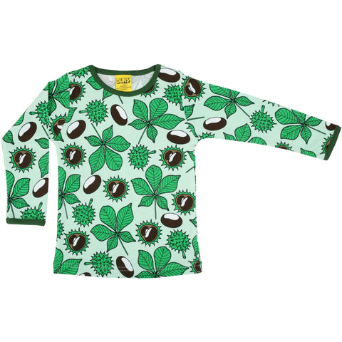 Duns Green Chestnut Long Sleeve T Shirt - Adults
