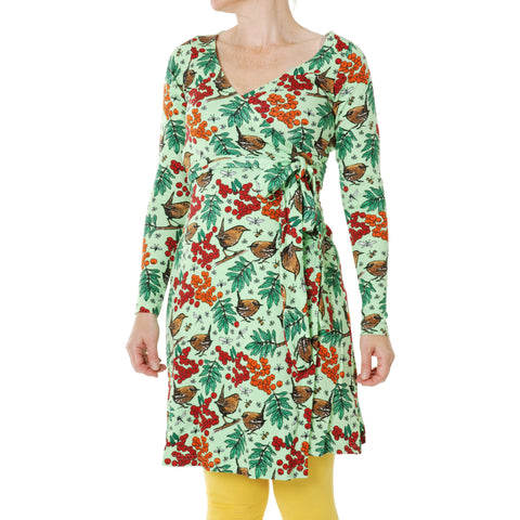 Duns Green Rowanberry Long Sleeve Wrap Dress