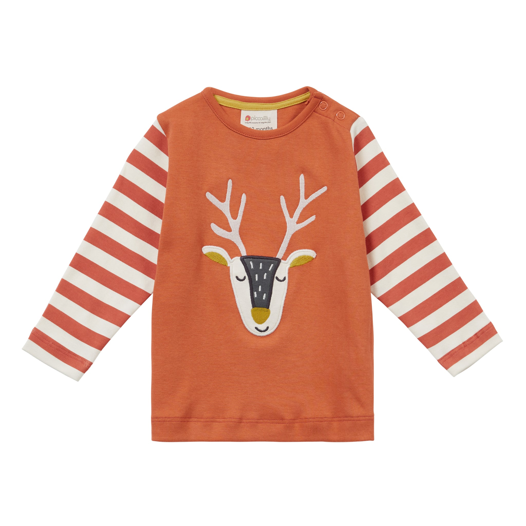 Piccalilly Long Sleeve Reindeer Top