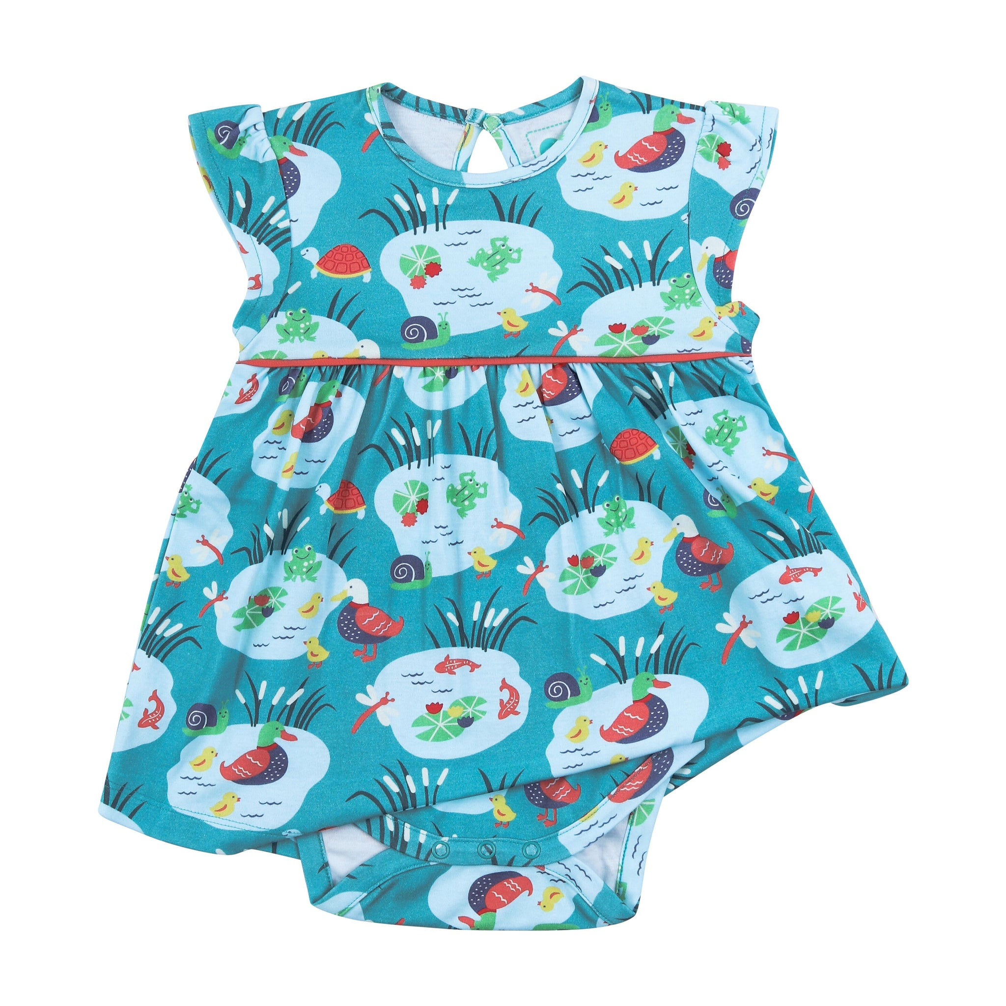 Piccalilly Pondlife Baby Dress