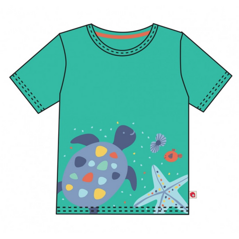 Piccalilly Short Sleeve Turtle T Shirt